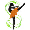 Silhouette Ballet Dancers #06