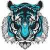 Detailed Tiger Face B