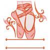 Ballet Shoes Monogram #02