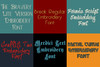 BX Fonts - 20 Embrilliance fonts 1