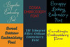 BX Fonts - 20 Embrilliance fonts 2