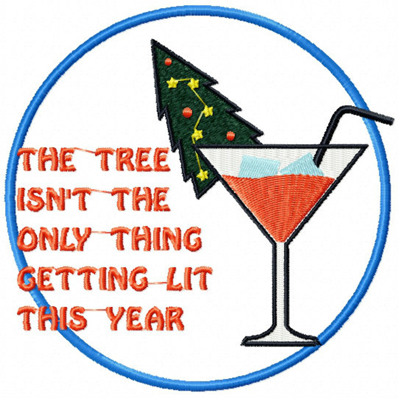 Christmas Humor Images.Christmas Tree Getting Lit Christmas Humor Booze 05 Machine Embroidery Design