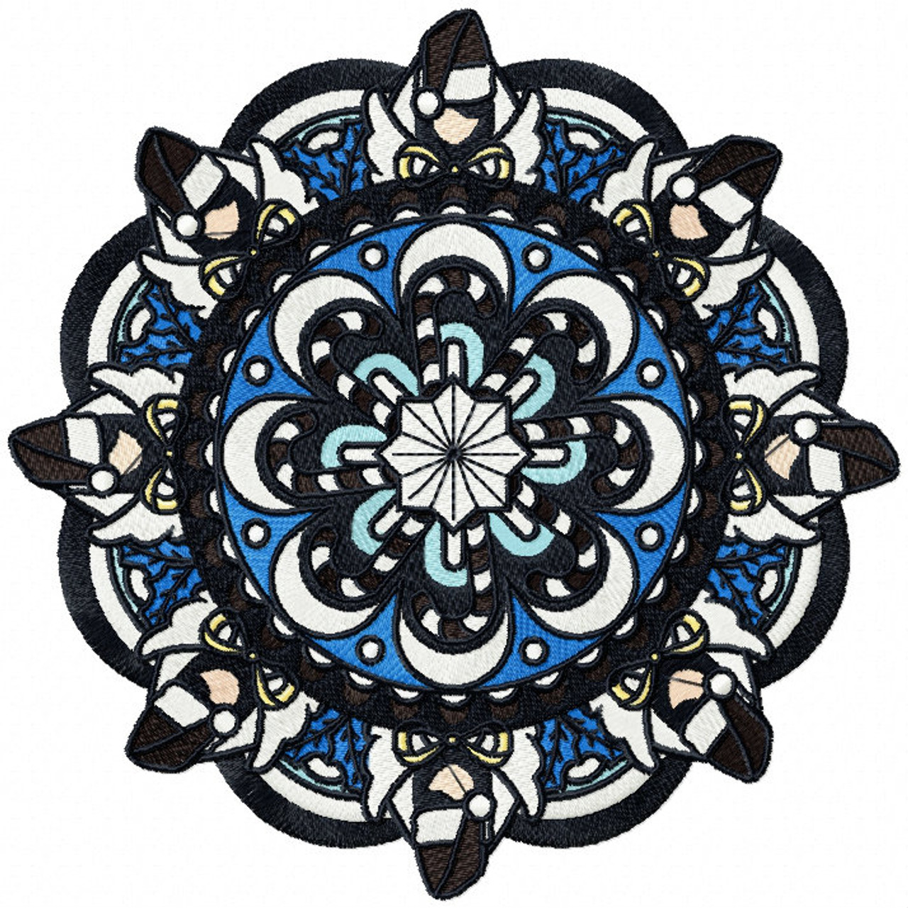 Machine Embroidery Design - Christmas Mandala #08