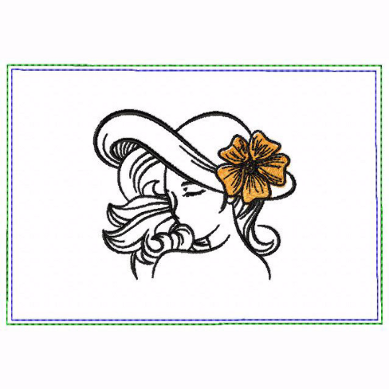 Modern Ladies 02B Small Money Purse - In The Hoop Machine Embroidery Design
