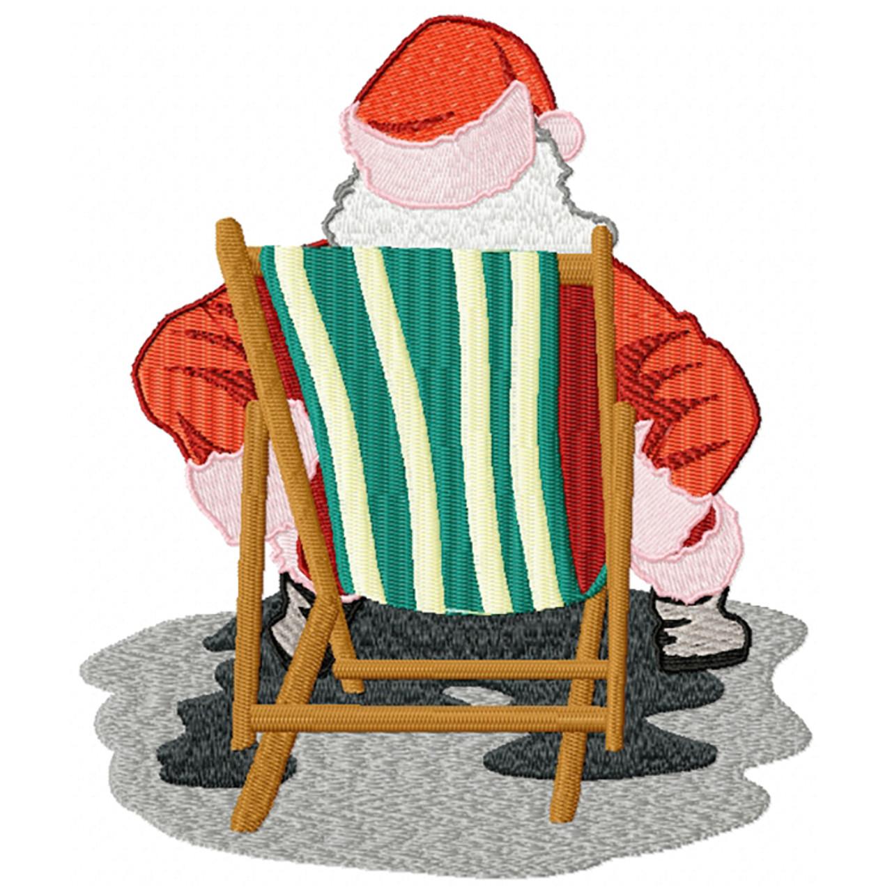 Santa On The Beach 07 Machine Embroidery Design