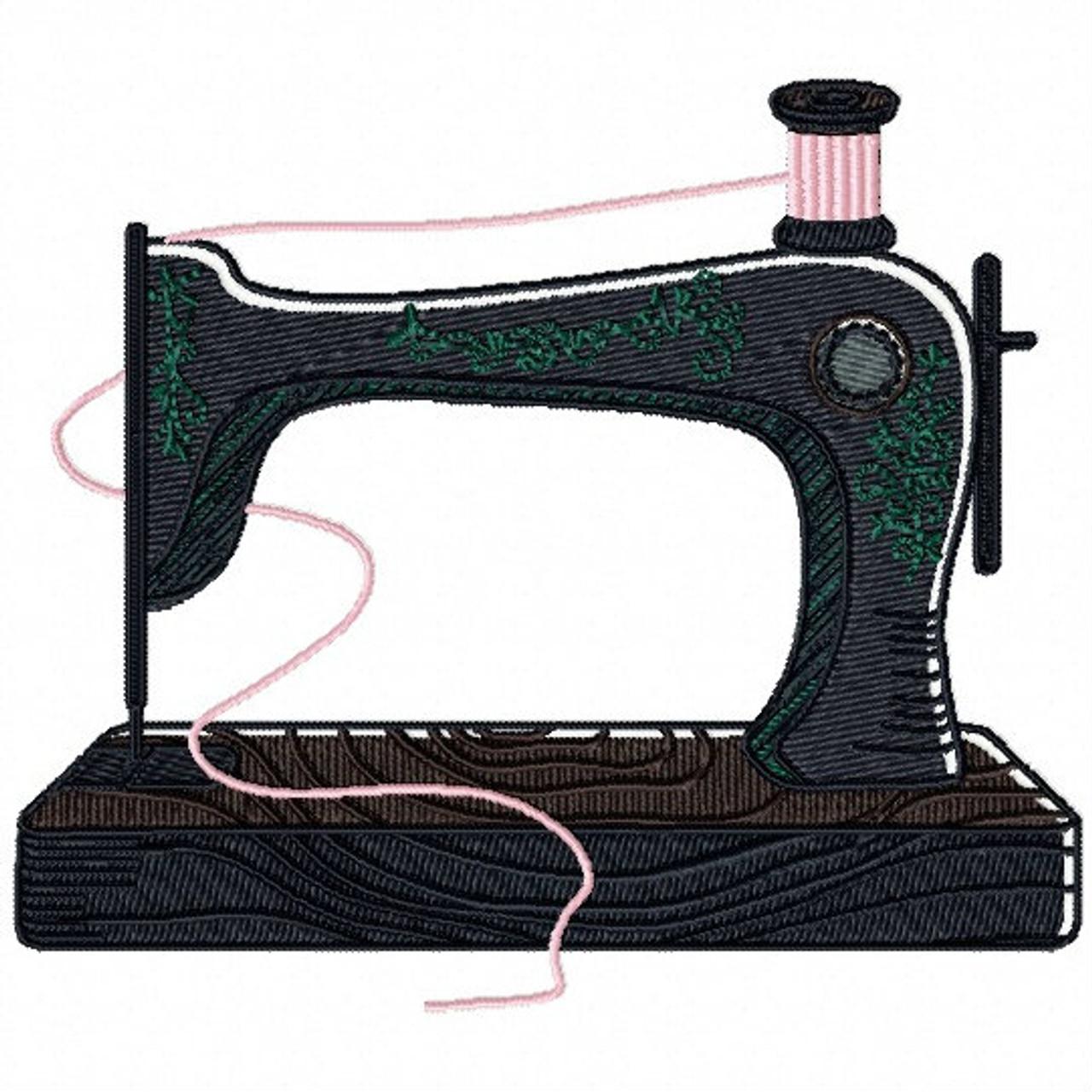 Machine Embroidery Design Vintage Sewing Machine