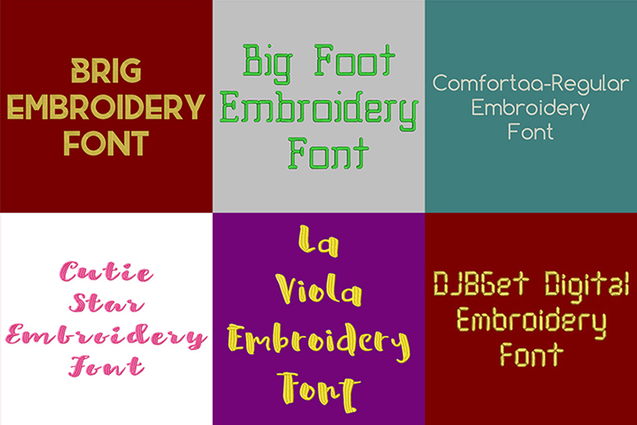 20 BX Fonts - Font Bundle 1 - 20 Embrilliance Machine Embroidery Fonts