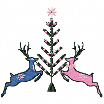 Christmas Reindeer #02 Machine Embroidery Design