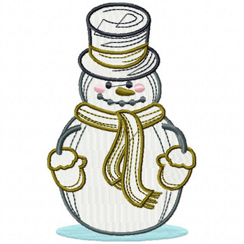 Mr. Snowman - Snowman Version One #01 Machine Embroidery Design