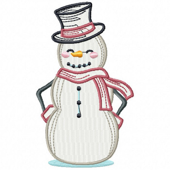 Chillin' Snowman - Snowman Version One #04 Machine Embroidery Design