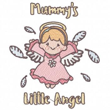 Joyful Mummy's Little Angel - Little Angels Typography #07 Machine Embroidery Design