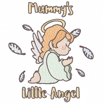 Calm Mummy's Little Angel - Little Angels Typography #11 Machine Embroidery Design