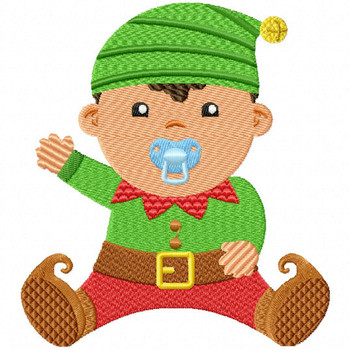 Baby Elf - Christmas Baby #04 Machine Embroidery Design