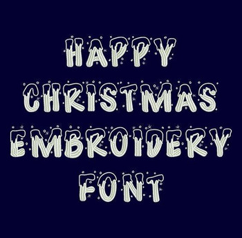 Happy Christmas Machine Embroidery Font Now Includes BX Format!