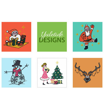 Yuletide Designs Collection of 5 Machine Embroidery Designs