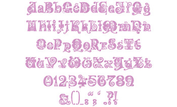 Kingthings Eggypeg Font Full Aplhabet