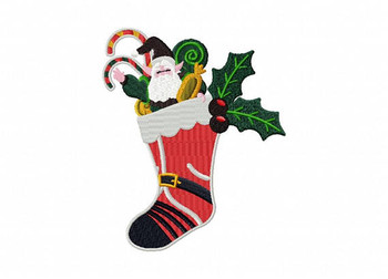 Christmas Stockings - Christmas Scene #03 Machine Embroidery Design