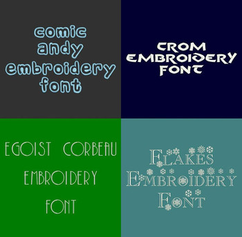 20 BX Fonts - Font Bundle 5 - 20 Embrilliance Machine Embroidery Fonts