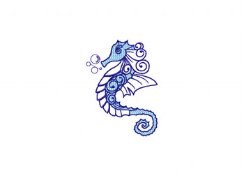 Seahorse Machine Embroidery Design