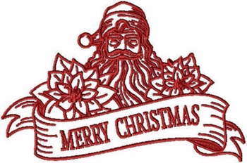 Merry Christmas - Christmas Redwork #09 Machine Embroidery Design