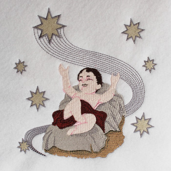 Baby Jesus - Religious Christmas #03 Machine Embroidery Design