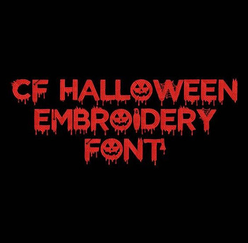 Halloween Machine Embroidery Font Now Includes BX Format