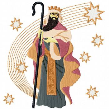 Three Kings 1 - Religious Christmas #04 Machine Embroidery Design