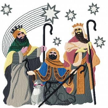 Three Wise Men - Religious Christmas #07 Machine Embroidery Design