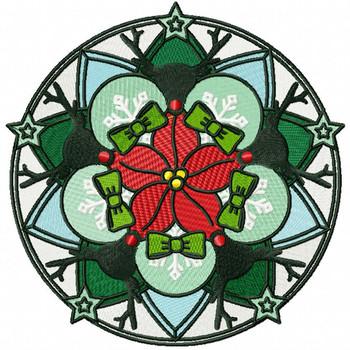 Christmas Mandala #05 Machine Embroidery Design