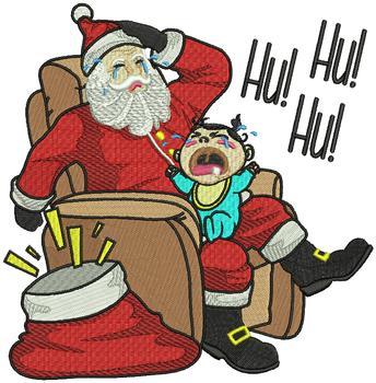 Hu Hu Hu - Humor Christmas #01 Machine Embroidery Design