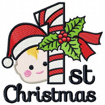 Baby's First Christmas - Baby's First #01 Machine Embroidery Design