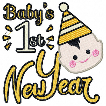 Baby's First New Year - Baby's First #02 Machine Embroidery Design