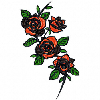 Detailed Rose Pattern Collection #10 Machine Embroidery Design