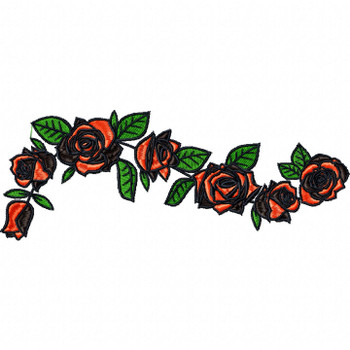 Detailed Rose Pattern Collection #11 Machine Embroidery Design