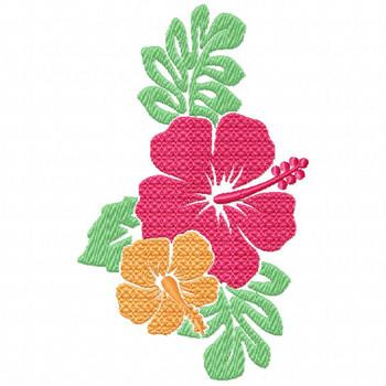 Hibiscus 2 - Flower #07 Machine Embroidery Design