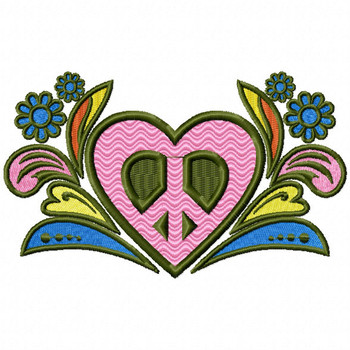 Hippie Love - Psychedelic 60's #07 Machine Embroidery Design