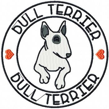 Bull Terrier #01 Machine Embroidery Design
