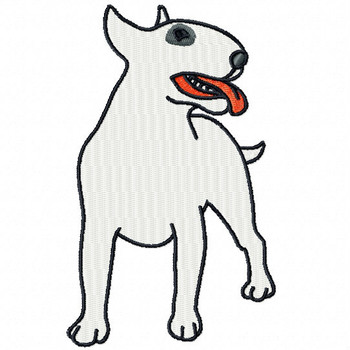 Bull Terrier #03 Machine Embroidery Design