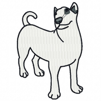Bull Terrier #04 Machine Embroidery Design
