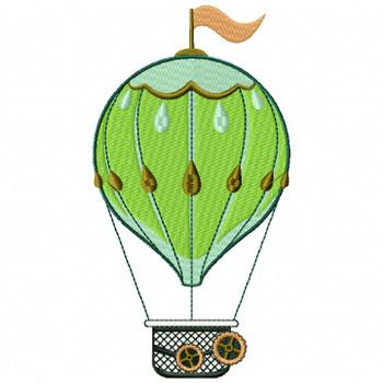 Steampunk Hot Air Balloon - Machine Embroidery Design - Steampunk Collection #16
