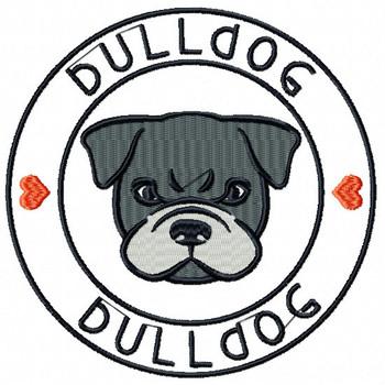 Bulldog #01 Machine Embroidery Design