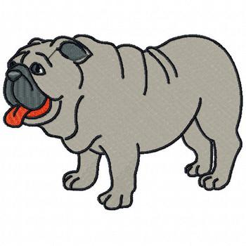 Bulldog #02 Machine Embroidery Design