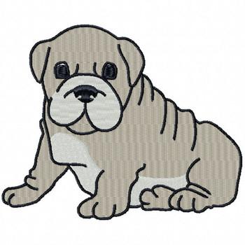 Bulldog #03 Machine Embroidery Design
