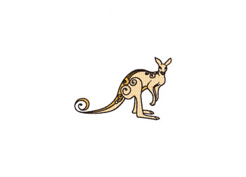 Kangaroo Machine Embroidery Design