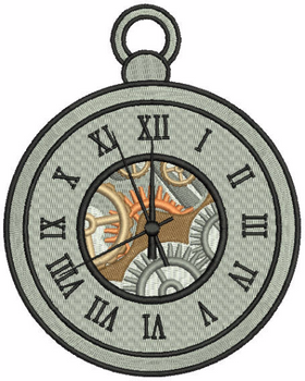 Steampunk Timepiece 04 - Machine Embroidery Design - Steampunk Collection #22