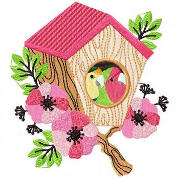 Love Birds #03 Machine Embroidery Design