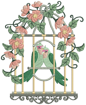 Love Birds #06 Machine Embroidery Design