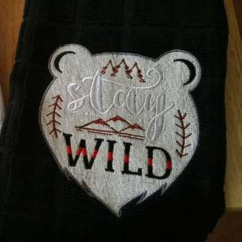 Stay Wild - Machine Embroidery Design - Hiking Collection #01