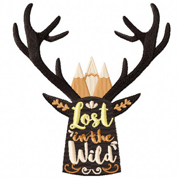 Lost in the Wild - Machine Embroidery Design - Hiking Collection #03