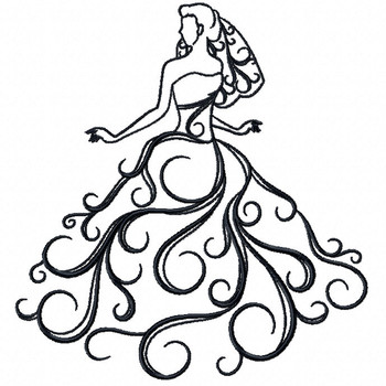 Wedding Dress Collection #02 - Machine Embroidery Design